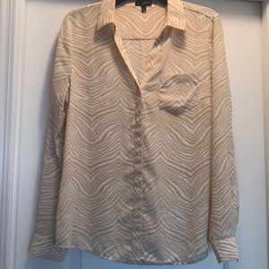 The Limited Aston zebra print blouse